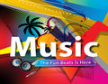 Abstract colorful music background Royalty Free Stock Photo