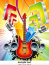 Abstract colorful musical backgroud Stock Image