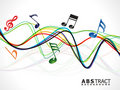 Abstract colorful musical line wave Stock Photo