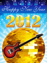 Abstract colorful musical new year background Royalty Free Stock Photos