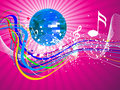 Abstract colorful musical night Royalty Free Stock Images