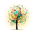 Abstract Colorful Musical Tree Royalty Free Stock Photo