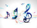 Abstract colorful musical word background Stock Photography