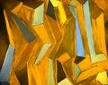 Abstraktné umenie farbistý olej maľovanie