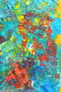 Abstract colorful painting background of oil on canvas Royalty Free Stock Images