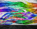 Abstract colorful painting with foreground Royalty Free Stock Photo