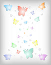 Abstract colorful paper butterflies illustration of background with cutout Royalty Free Stock Photography