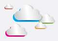 Abstract colorful paper cloud for computing web apps vector illustration Royalty Free Stock Image