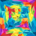 Abstract colorful polygon presentation of new tech design cover background. illustration vector eps10