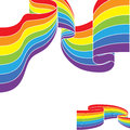 Abstract colorful rainbow color border vector