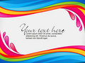 Abstract colorful rainbow color splash border Royalty Free Stock Image