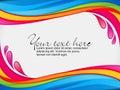 Abstract colorful rainbow color splash border