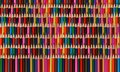 Abstract colorful rainbow sharpen pencils background pattern. Rainbow pattern backdrop. High resolution many colors various vertic Royalty Free Stock Photo