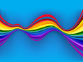 Abstract colorful rainbow waves for various design Stock Photography