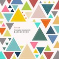 Abstract colorful retro triangle pattern shapes geometric background.