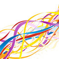 Abstract colorful ribbons. Stock Photo
