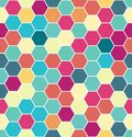 Abstract colorful seamless hexagon pattern. Repeating luxury background