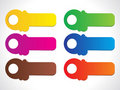 Abstract colorful shiny stickers Royalty Free Stock Photo