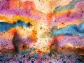 Abstract colorful sky splash watercolor painting landscape