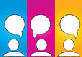 Abstract colorful social media dialog bubbles Royalty Free Stock Photo