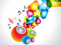 Abstract colorful sound background Royalty Free Stock Photos