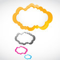 Abstract colorful speech bubbles Stock Images