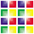 Abstract colorful square pattern different colors Stock Photos