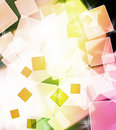 Abstract colorful square shape background Royalty Free Stock Photos