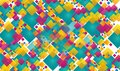 Abstract Colorful square seamless background Design Royalty Free Stock Photo