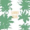 Abstract Colorful Summer Palms Background. Vector Royalty Free Stock Photo