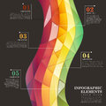 Abstract colorful tile infographics modern vector infographic elements Royalty Free Stock Photography