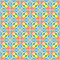Abstract colorful tile pattern.  Multicolor checked texture background.  Seamless illustration. Royalty Free Stock Photo