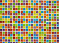 Abstract colorful tile wall Stock Photos