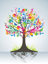 Abstract colorful tree. Stock Photos
