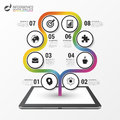 Abstract colorful tree. Timeline infographic template. Vector Royalty Free Stock Photo