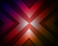 Abstract colorful triangles on a dark background with a texture over it Royalty Free Stock Images