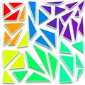 stock image of  Abstract colorful triangles,green,purple,yellow,orange,blue,red