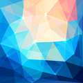 Abstract colorful triangles vector background crystal iced Royalty Free Stock Photography
