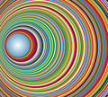 Abstract colorful tunnel with circles Royalty Free Stock Photo