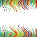 Abstract colorful twisted wave strip  background Stock Photos