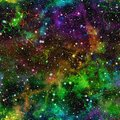Abstract colorful universe, Nebula night starry sky, Multicolor outer space, Galactic texture background, Seamless illustration Royalty Free Stock Photo