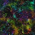 Abstract colorful universe, Rainbow nebula night starry sky, Multicolor outer space, Seamless galactic texture background Royalty Free Stock Photo