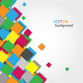 Abstract colorful vector background with blocks Royalty Free Stock Photography