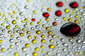 Abstract colorful water drops Royalty Free Stock Photography