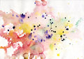 Abstract colorful watercolor background pink painting see my other works in portfolio Stock Photo