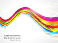 Abstract colorful wave background vector illustration Stock Image