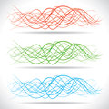 Abstract colorful wave banner background Royalty Free Stock Images
