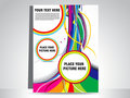 Abstract colorful wave flayer Royalty Free Stock Images