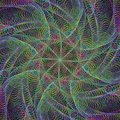 Abstract colorful wire fractal background