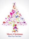 Abstraktné vianočný stromček v